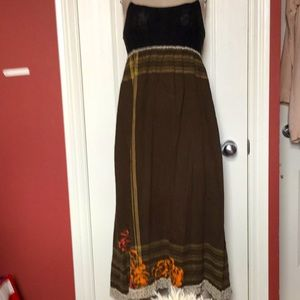Vintage Free people long maxi dress xs 0